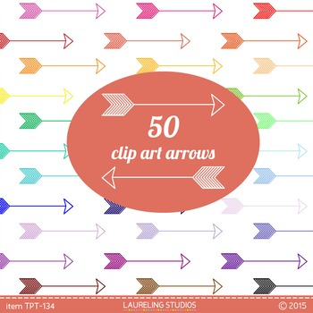 clip art arrows in 50 colors
