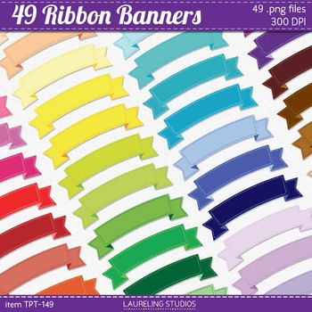 clip art banner set with stitched outlines