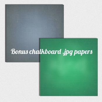 clip art chalkboard banners with chalkboard background