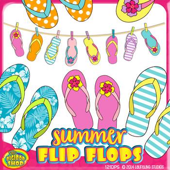 clip art flip flops for summer projects