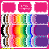 clip art frame set - colorful digital frames/labels