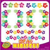 clipart hibiscus - colorful Hawaiian floral clip art