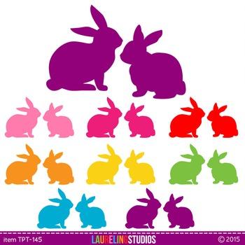 clip art rabbits for Easter or animal studies