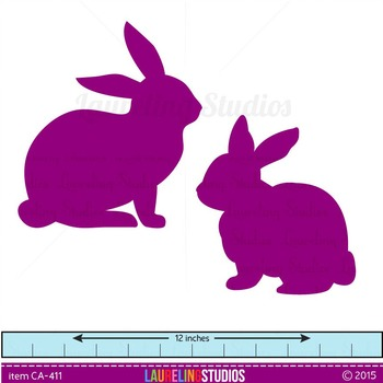 clip art rabbits for Easter or animal studies