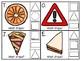 clip cards: 2D shapes + bonus strip puzzles