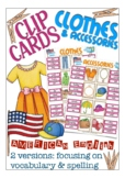 clip cards, American English: clothes & accessories