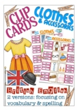 clip cards, British English: clothes & accessories
