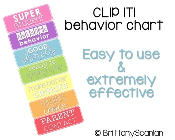 clip it! behavior chart / classroom management chart