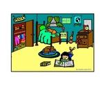 BEDROOM Spanish describing room color/BW activity