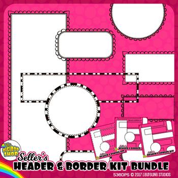 clipart borders headers and frames bundle// TpT sellers se