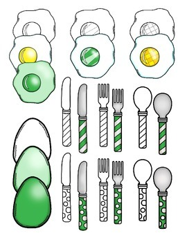 clipart: ham and eggs