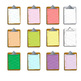 clipboard clipart with notebook paper - .png and .jpg//color, black and white