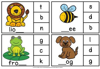 Alphabet clipcards