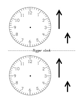 clock activity for showing mastery of telling time