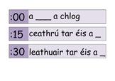 clock labels as Gaeilge (in Irish)