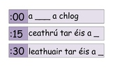 clock labels as Gaeilge (in Irish)