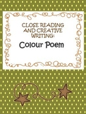 close reading, model text, creative writing - colour poem