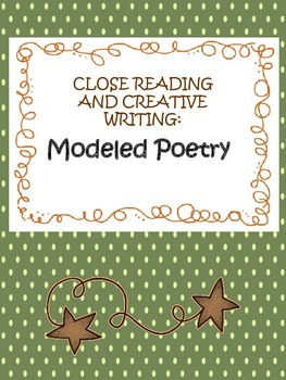 """close reading, mentor text, creative writing - """"old, old"""" poem"""