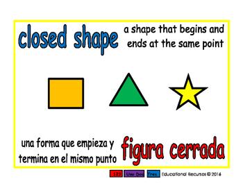 closed shape/figura cerrada geom 1-way blue/rojo
