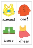 clothes flash cards