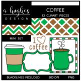 Coffee Mini Clipart Bundle {A Hughes Design}