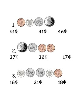 coin counting combinations