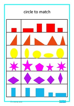 Match Colors Shapes Visual Discrimination Autism Special Education