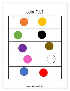 color assessment