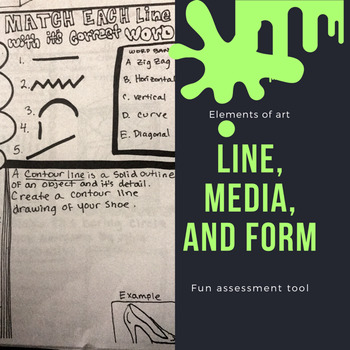 Interactive line, media, and form worksheet