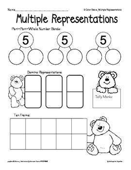 color bear bundle: subtractive fingerplay and missing numerals to 25