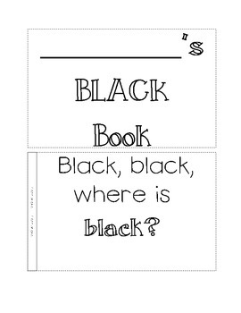 color book, black