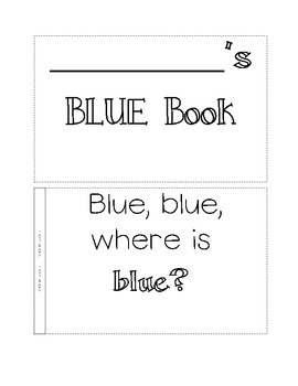 color book, blue