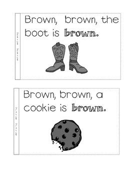 color book, brown