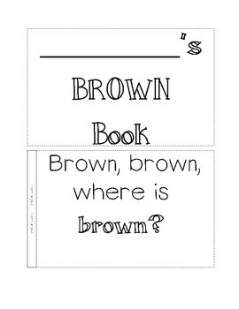 color book, brown