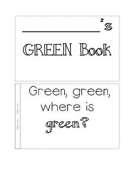 color book, green