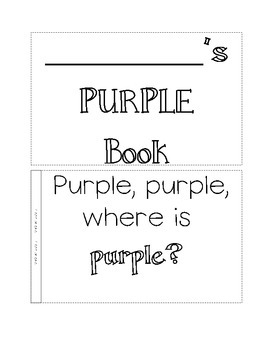 color book, purple