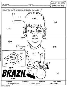 Soccer - Color by Code - 2nd grade - Super Math - Volume 5