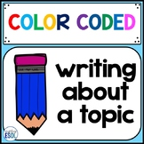 writing about a topic color coded