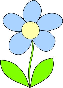 color flowers clip art