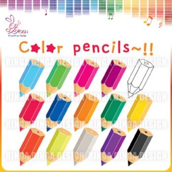 color pencils Cliparts!