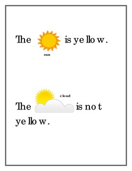 color sight word book