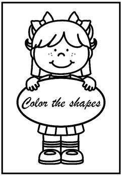 color the shape