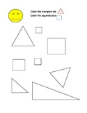 color triangles and squares