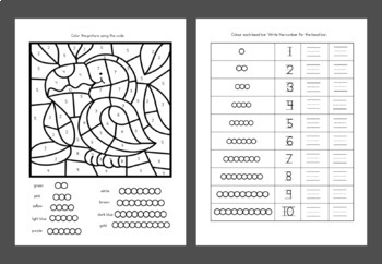 colored bead stair worksheets