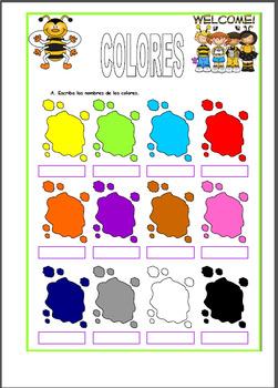 colores bundle / colors worksheets bundle