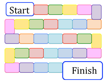 colorful blank game board