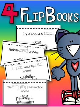 colorful cat flip book