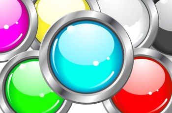 colorful circle buttons as decorative clip art