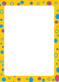 colorful polka dot borders