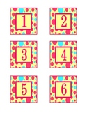 colorful polka dots calendar numbers